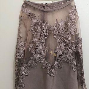 Midi Dress - sheer detailing